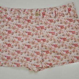 Ann Taylor Loft Women's Cotton Pink Floral Printed
